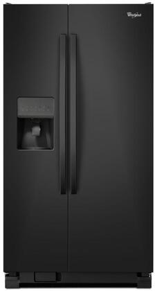 """Whirlpool WRS335FDD 36"""" Side-by-Side Refrigerator with 24.5 Cu. Ft. Capacity, LED Lighting, Frameless Glass Shelves, Accu-Chill Temperature System, Adaptive Defrost and Water/Ice Dispenser, in"""