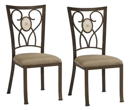 Hillsdale Furniture 4815802 Brookside Series Traditional Fabric Metal Frame Dining Room Chair