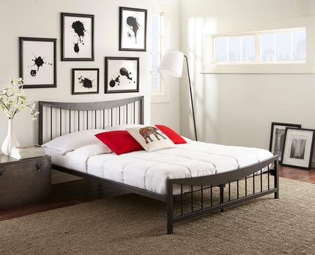 Rest Rite Nora MFP02253xx X Size Platform Bed with Metal Frame and Modern Style in Dark Metal