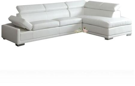 Acme Furniture 51165 Cleon Series Stationary Bonded Leather Sofa