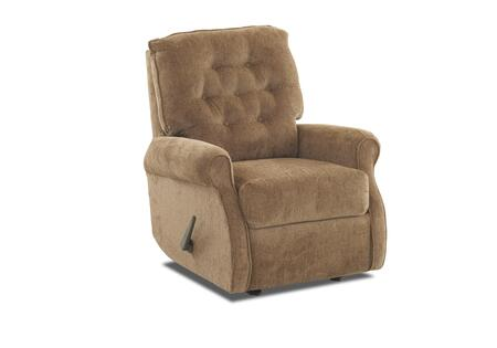 "Klaussner Virgo Collection 46703H-RRC- 35"" Rocking Reclining Chair with Rolled Arms, Welted Trim Detail and Button Tufted Back Cushion in"