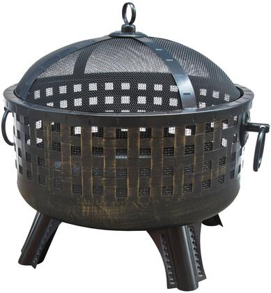 "Landmann 2636 Garden Lights Savannah Fire Pit with 12.5"" Deep Fire Bowl, Decorative Legs, Ring Handles, Spark Screen and Steel Construction in"