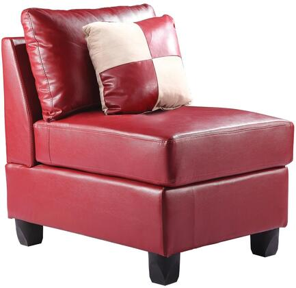 Glory Furniture G649AC Bycast Leather  in Red
