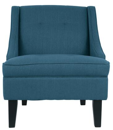 """Signature Design by Ashley Clarinda 362XX60 28"""" Fabric Accent Chair with Tufted Detailing, Tapered Legs and Winged Back Design in"""