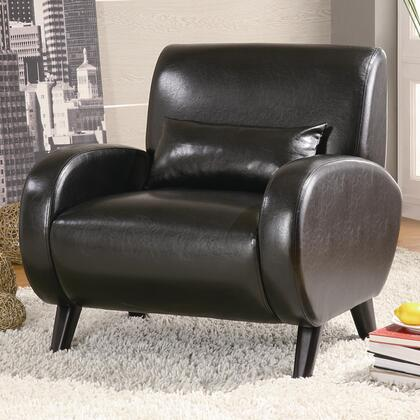 Coaster 902011 Club Bonded Leather Wood Frame Accent Chair