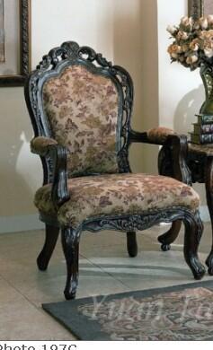 Yuan Tai NE3000A Newport Series Fabric Arm Chair with Wood Frame