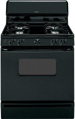 "Hotpoint RGB526DEHx 30"" Freestanding Gas Range with 4.8 cu. ft. Standard Clean Oven, Standard Grates, and 4 Sealed All Purpose Burners in"