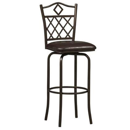 Linon 02752MTL01KDU Diamonds Series Commercial or Residential PVC Upholstered Bar Stool