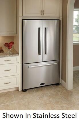 "AGA APRO36FDBNIVY 36"" Legacy Series Bisque Counter Depth French Door Refrigerator with 19.8 cu. ft. Capacity"