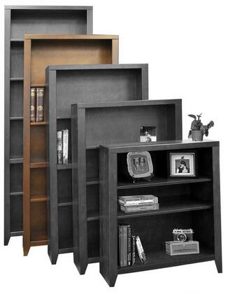Legends Furniture UL6672MOC Urban Loft Series Wood 4 Shelves Bookcase