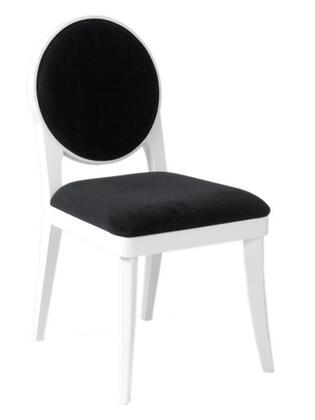 Euro Style 38543WHT Hallie Series Contemporary Microfiber Dining Room Chair