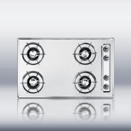 Summit ZTL05P  Gas Open Style Cooktop with 4 Burners  |Appliances Connection