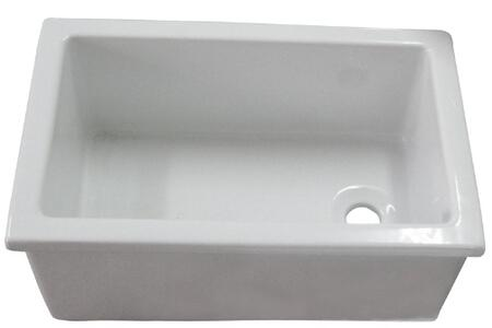 23in x 15in Utility Sink with Fine Fire Clkay in White (Regular View)