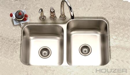 "Houzer EC-3208SX-1  Elite  31"" undermount Stainless Steel Double Bowl with 20- Gauge Kitchen Sink:"
