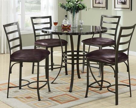Acme Furniture 70090BKT4C Bar Table Sets