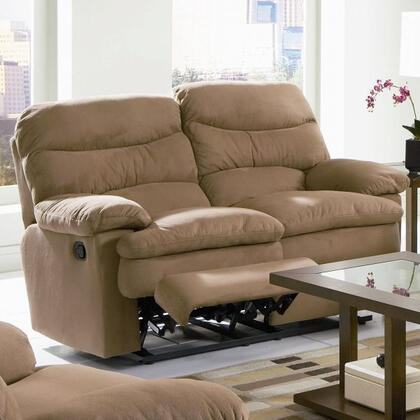 Coaster 600462 Microfiber Reclining with Wood Frame Loveseat