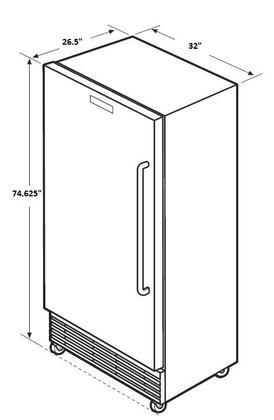 Frigidaire Fcfs181lqb 32 Inch Freezer With 17 9 Cu Ft