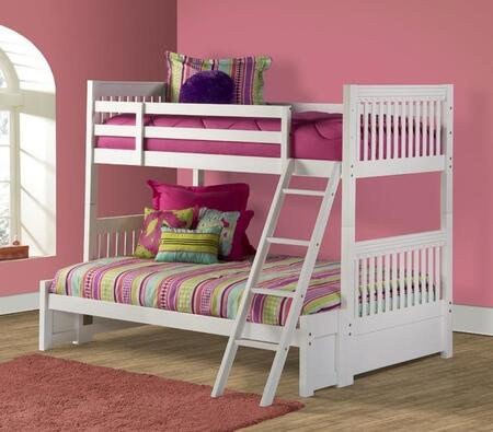 Hillsdale Furniture 1528BBF Lauren Series  Twin over Full Size Bunk Bed