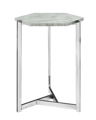 "Monarch I327AT 21"" Accent Table with Chrome Metal Legs and Hexagon Top in"