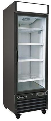 Kool-It KGFx Glass Door Freezer with Cu. Ft. Capacity, HP, LED Lighting, Digital Temperature Display, in Black