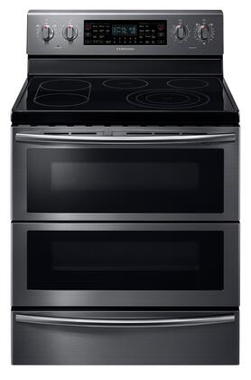"Samsung Appliance NE59J7850W 30"" Freestanding Electric Range with 5.9 cu. ft. Capacity, Dual Door, 5 Smooth Top Electric Elements, Warming Drawer, Dual Convection Oven and Self Clean Feature in"