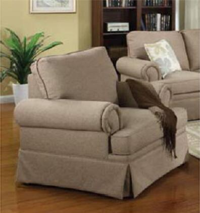 Coaster 504123 Genevieve Series Fabric with Wood Frame in Brown