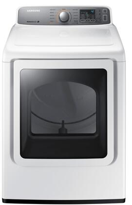 Samsung DV45H7200T 7.4 Cu. Ft. Super Capacity Dryer With Sensor Dry, 11 Cycles, Smart Care, 7 Options, 4 Temperature Settings, 3-Way Venting, Reversible See-Through Door in White
