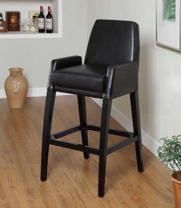 Armen Living LC4049BABL26 Residential Bycast Leather Upholstered Bar Stool