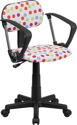 """Flash Furniture BT-D-XX-A-GG 16"""" Printed Computer Chair with Arms, Small Back Design, Contoured Seat, Pneumatic Seat Height Adjustment, Polyurethane Capped Arms, and Dual Wheel Carpet Casters"""