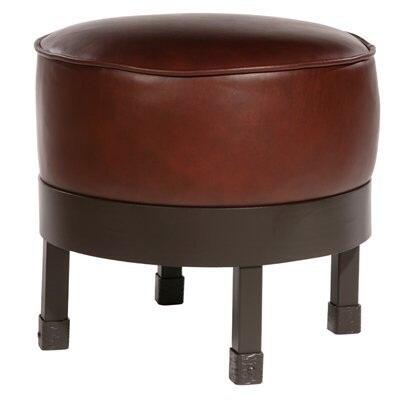 Stone County Ironworks 904189FAUXOBB Cedarvale Series Traditional Faux Outback Berry Leather Ottoman
