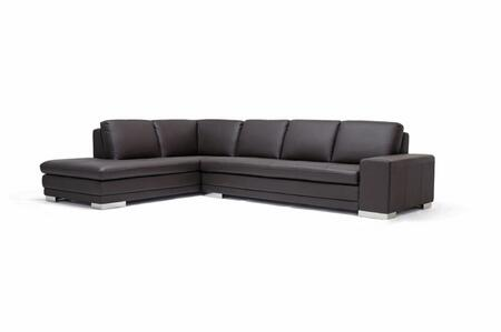 Wholesale Interiors 766-sofa/lying-M9805-T Callidora Series Dark Brown Leather-Leather Match Sectional Sofa, Chaise on T