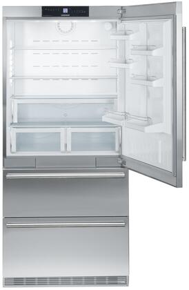 "Liebherr CS2060 36""  Bottom Freezer Refrigerator with 19.5 cu.ft. Capacity in Stainless Steel"