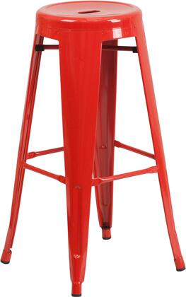 Flash Furniture CH3135030REDGG Residential Not Upholstered Bar Stool