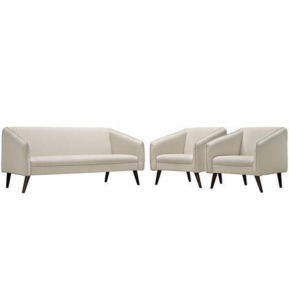 Modway EEI2451BEISET Contemporary Fabric Living Room Set
