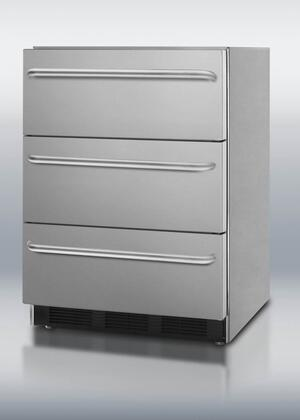 Summit SPF5DSSTB Professional Series Freestanding Refrigerator Drawer(s) Counter Depth Freezer
