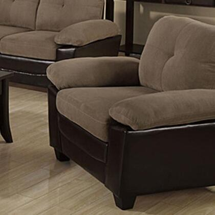 Monarch I8941BR Transitional Faux Leather Ottoman