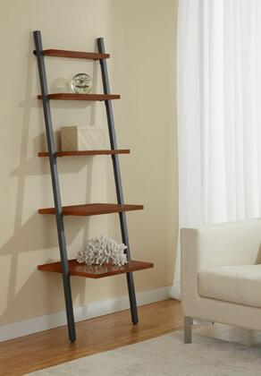 Unique Furniture B2271 Leaning Ladder Narrow 5-Shelf Bookcase