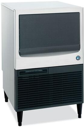 """Hoshizaki KM-151BxH 24"""" Undercounter Self-Contained Ice Maker With 146 lbs. Daily Ice Production, 78 lbs. Built-In Storage Capacity, Crescent Ice Cubes, EverCheck Alert System, And Slide In Door: Stainless Steel"""