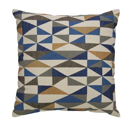 """Signature Design by Ashley Daray Collection A1000233X 20"""" x 20"""" Pillow with Geometric Pattern, Fiber Filler and Cotton Cover in Multi Color"""