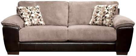 """Jackson Furniture Pinson Collection 4398-03- 97"""" Sofa with Block Feet, Pillow Top Arms and Two Throw Pillows in"""