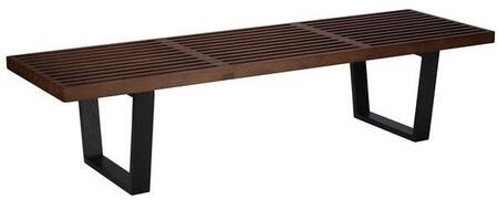 EdgeMod EM122DWAL Slat Series Entryway Armless Wood Bench
