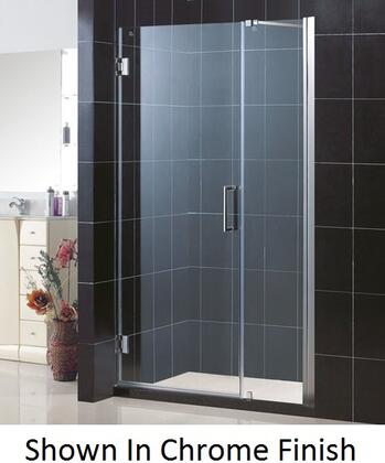 DreamLine SHDR-20477210 Unidoor Frameless Hinged Shower Door With Reversible For Right Or Left Door Opening, Self-Closing Solid Brass Wall Mounted Hinges (5 Degree Offset) & In