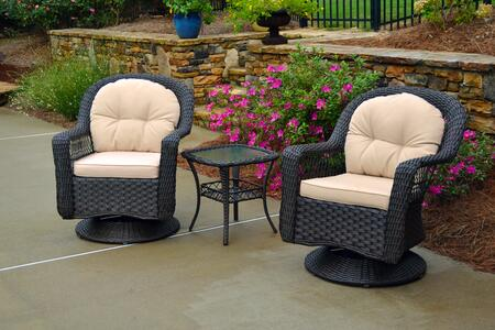 Tortuga BIL3PCBISTRODARK  Patio Sets