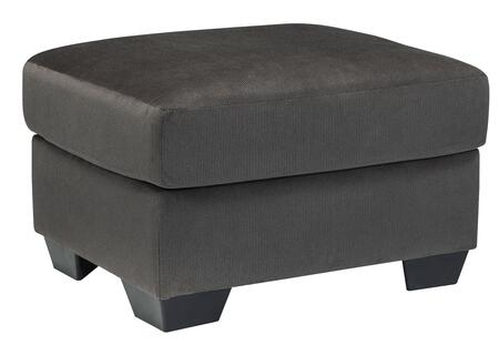 """Signature Design by Ashley Kinlock 3340X14 30"""" Ottoman with Tapered Block Feet, Rounded Corners and Smooth Upholstery in"""