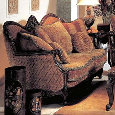 Yuan Tai NA1033L Natalie Series Fabric Loveseat with Wood Frame Loveseat