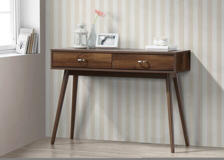 4D Concepts 151000 montage mid century desk with drawers walnut