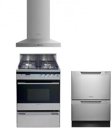 Fisher Paykel FP3PC24DFWMSSKIT3KIT8 Kitchen Appliance Packag
