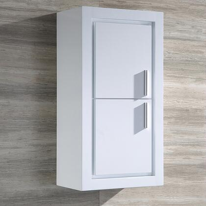 """Fresca Allier Collection FST8140 16"""" Bathroom Linen Side Cabinet with 2 Storage Areas with 2 Soft Close Doors and Plywood & Veneers Construction in"""