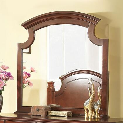 "Glory Furniture 44"" x 43"" Mirror with Carved Style, Rectangular Shape and Wood Veneer Construction in"