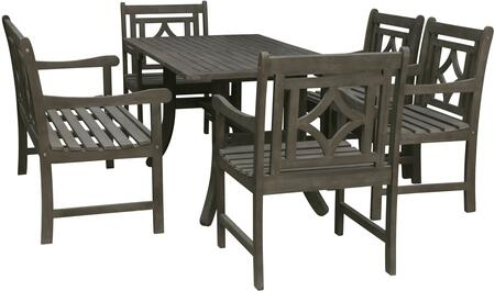 Remarkable Vifah V1300Set17 Ocoug Best Dining Table And Chair Ideas Images Ocougorg